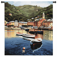 Harbor at Last Light Wall Tapestry