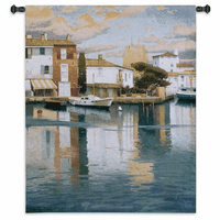 Harbor at Morning Light Wall Tapestry