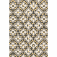 Harbor Gray and Gold Mosaic Indoor/Outdoor Rug - 5 x 8