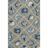 Harbor Gray Seaside Indoor/Outdoor Rug Collection