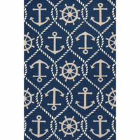 Harbor Navy Marina Indoor/Outdoor Rug Collection