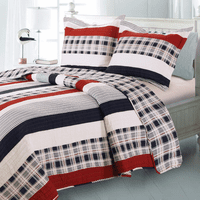 Harbor Plaid & Stripe 2-Piece Quilt Set - Twin - OUT OF STOCK
