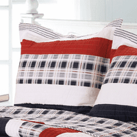 Harbor Plaid & Stripe King Sham