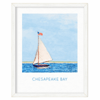 Harbor Sail Personalized Framed Poster