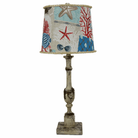 Harlan Table Lamp with Nautical Patch Shade