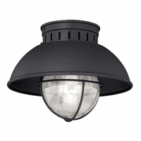 Harwich Black Outdoor Ceiling Light