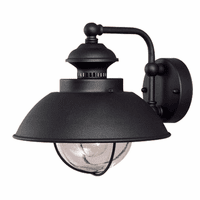 Harwich Black Outdoor Wall Sconce - 10 Inch