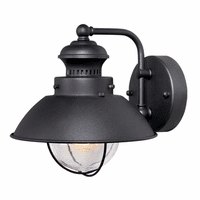 Harwich Black Outdoor Wall Sconce - 8 Inch
