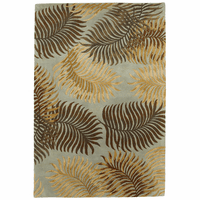 Havana Aqua Fern View Rug Collection