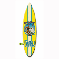 Hawaiian Magic Surfboard Wood Personalized Sign - 12 x 44