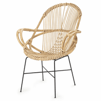 Helena Handwoven Rattan Chair