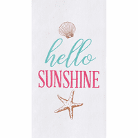 Hello Shells Flour Sack Towels - Set of 6