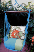 Hermit Crab Meadow Mist Stripe Swing Set