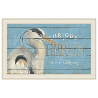 Heron Blue Framed Canvas