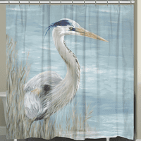 Heron By The Bay Shower Curtain