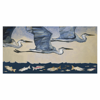 Heron Hunt Canvas Art