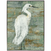 Heron Impression II Canvas Art