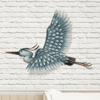 Heron in Flight Metal Wall Art