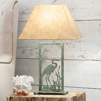 Heron Metal Art Table Lamp