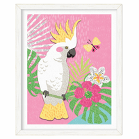 Hibiscus Cockatoo Framed Print