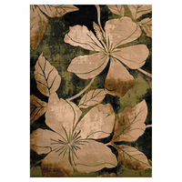 Hibiscus Flower Green Rug Collection