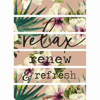 Hibiscus Relaxation Wall Art