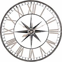 High Noon Oversized Metal Wall Clock