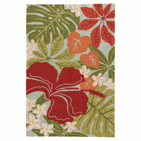 Honolulu Hibiscus Indoor/Outdoor Rug Collection