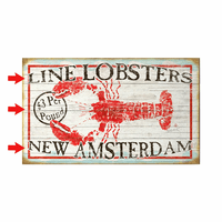 Horizontal Lobster Personalized Signs