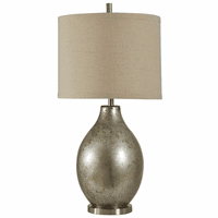 Hudson Falls Mercury Glass and Metal Table Lamp