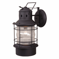 Hyannis Black Outdoor Wall Sconce - 10 Inch