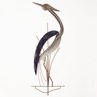 Hypnotizing Heron Metal Wall Art - Left Facing