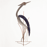 Hypnotizing Heron Metal Wall Art - Right Facing