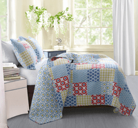 Ikat & Quatrefoil 3-Piece Quilt Set - King