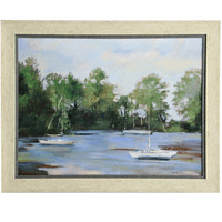 Impressionist Lake Framed Wall Art