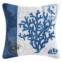Indigo Coral Indoor/Outdoor Pillow