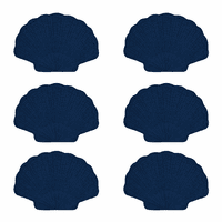 Indigo Scallop Placemat - Set of 6