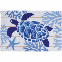 Indigo Sea Turtle Accent Rug