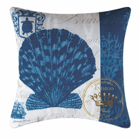 Indigo Shell Indoor/Outdoor Pillow