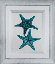 Indigo Starfish II Framed Art