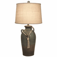 Inlet Three-Handled Table Lamp with Rope Accent