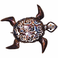 Intricate Metal Sea Turtle - Large