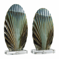 Iridescent Shell Sculpture - Set of 2