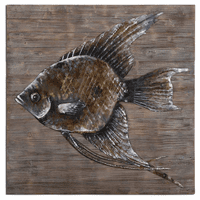 Iron Fish Embossed Wall Art