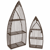 Iron Slat Boat Shelves - Set of 2
