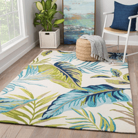 Island Leaves Indoor/Outdoor Rug - 2 x 3