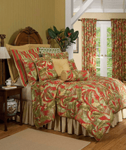 Island Paradise Comforter Set with 18 Inch Drop Bedskirt - King