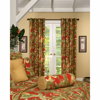 Island Paradise Grommet Top Curtains - Set of 2