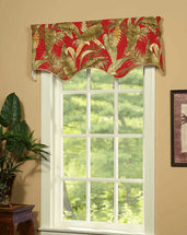 Island Paradise Lined Filler Valance