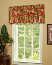 Island Paradise Tailored Valance with Band